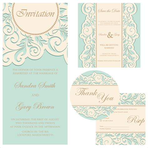 wedding invitation card design vector free download retro wedding invitation cards design 01 over millions