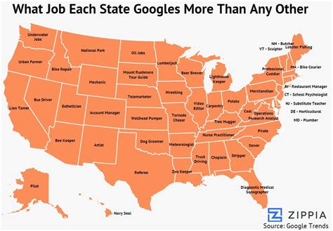 Search For In State The Most Googled For Each State See What S Listed For South Dakota