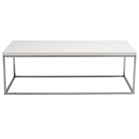 White Rectangular Coffee Table Eurostyle Teresa Rectangular Coffee Table In White Lacquer 09801wht