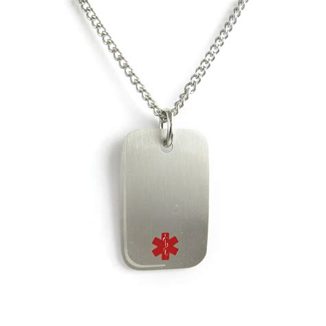 myiddr engraved coumadin alert necklace stainless