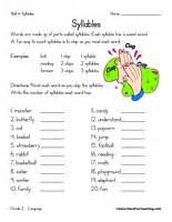 syllables worksheet have fun teaching