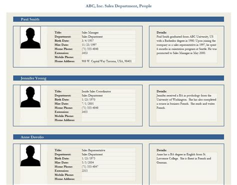 profile card template html employee profile template best business plan template