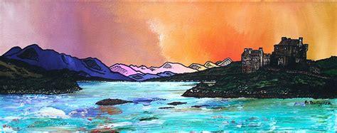 spray painting scotland highlands painting prints of eilean donan castle