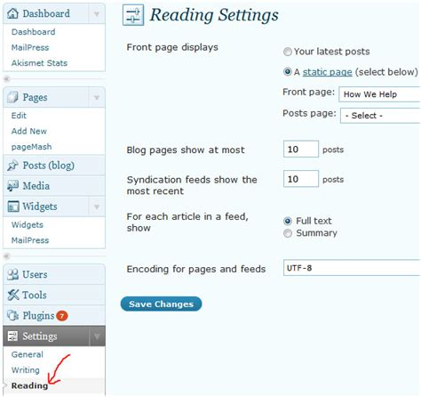 how to enable rss feed on wordpress blog