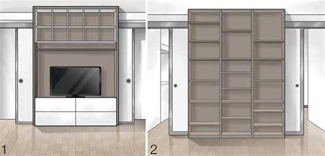 disegni di librerie suddivisioni ottimizzate per la casa di meno di 100 mq