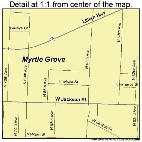 myrtle florida map myrtle grove florida map 1247550