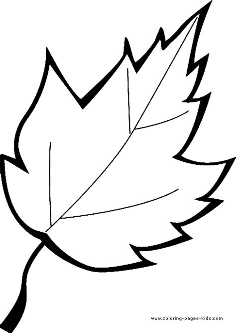 coloring page of a leaf leaf color page