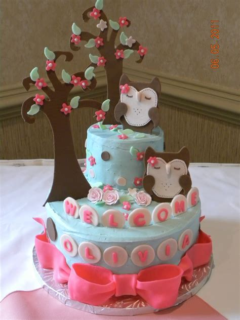 Baby Owls For Baby Shower by Owl Cake For Baby Shower Cakecentral