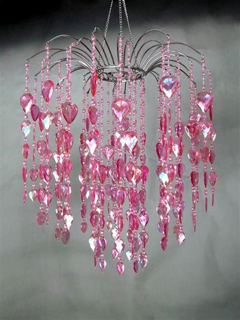 Pink Large Waterfall Chandelier Wedding Decor Direct Pink Chandelier L