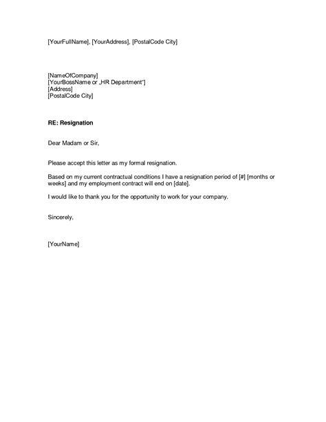 resignation letterwriting letter
