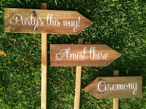 Wooden Handmade Signs - personalized wooden wedding signs ceremony by