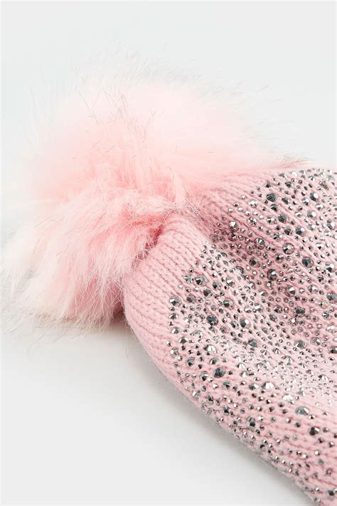 Turn Buckle Span Skrup No 16 pink sparkle hat with pom pom