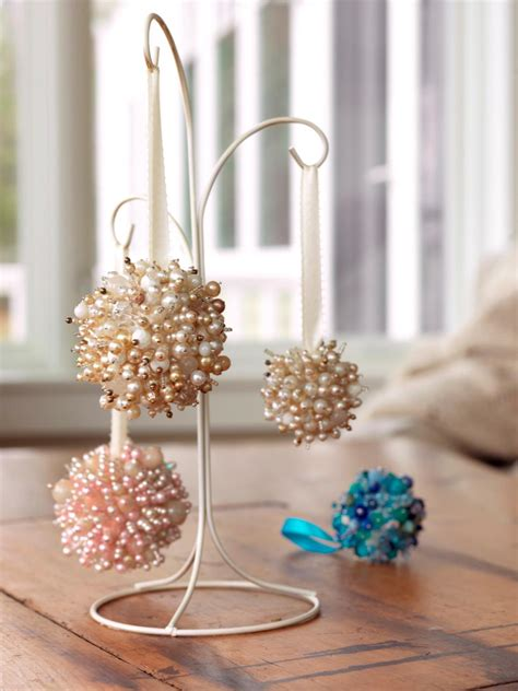 make ornaments from necklaces diy