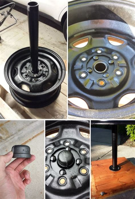 diy tire rim grill  welding home design garden
