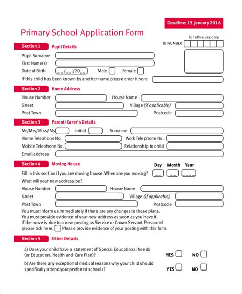 sle school application form 9 free documents in pdf