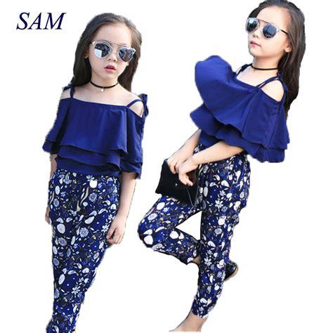 Set Modas Kid set clothes fashion top pant two children