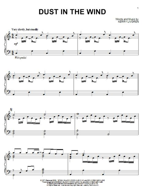 dust in the wind dust in the wind sheet music by kansas piano 54412