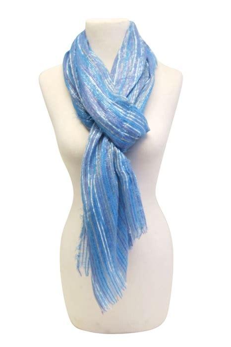 990 striated lurex scarf