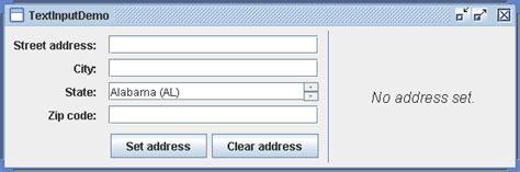 java swing text area text input demo textarea 171 swing jfc 171 java