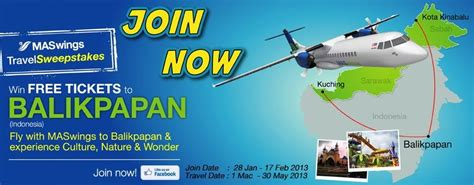 Southwest Airlines Ticket Giveaway - free tickets giveaway to balikpapan indonesia by maswings airline