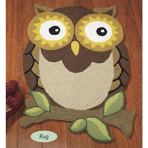 Owl Rug owl accent rug hooty owls