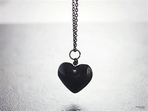 black with pendants black necklace wire wrapped glass pendant anti