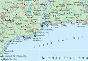 map of costa sol with cities and towns