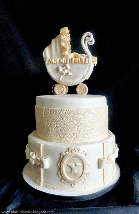 Vintage Baby Shower Cakes pink cake vintage baby shower cake