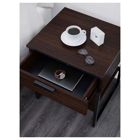 Black Brown Bedside Table Trysil Bedside Table Brown Black 45x40 Cm Ikea