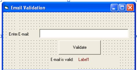 html pattern email validation email validation using vb6 free source code tutorials