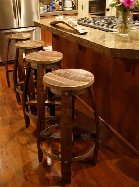 Wine Bar Stools by Reclaimed Wine Barrel Bar Stool 200 Reclaimedwinebarrel