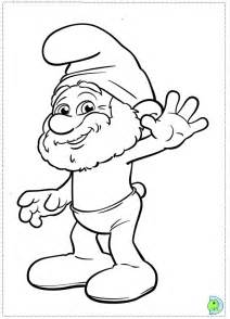 smurf cartoon characters az coloring pages