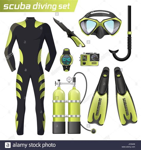 dive equipment realistic snorkeling and scuba diving equipment scuba