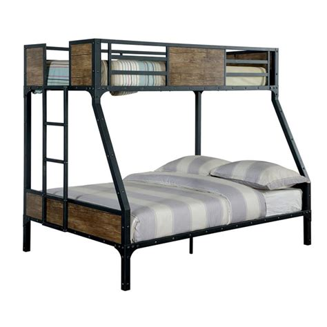 Metal And Wood Bunk Beds Clapton Metal Finish Size Bunk Bed 24 7 Shop