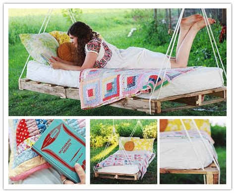how to make lovely diy pallet hanging swing bed step by