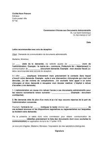 lettre de saisine de la cada commission d acc 232 s aux documents administratifs mod 232 le de lettre