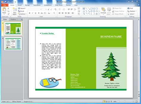 powerpoint brochure templates csoforum info