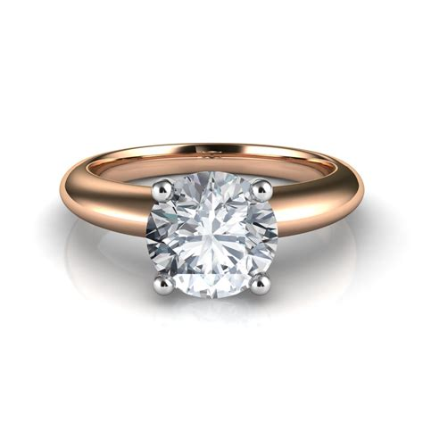 crown solitaire engagement ring