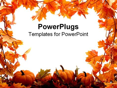 fall templates powerpoint template orange pumpkins and leaves for autumn