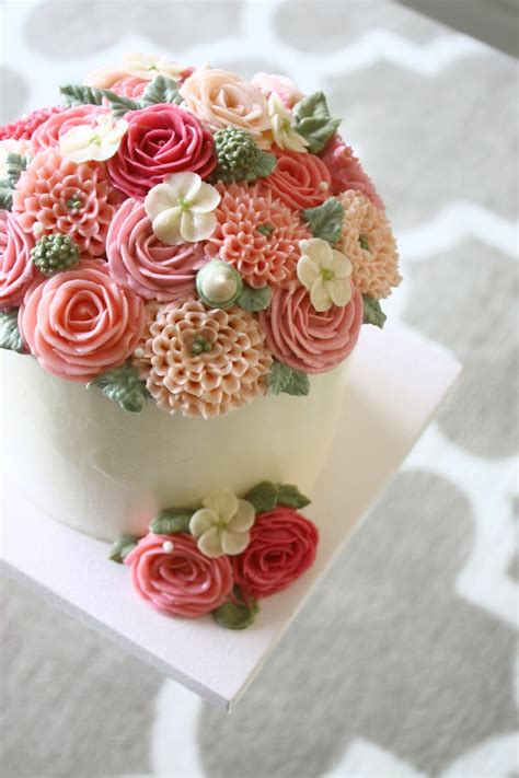 Cake Decorating Ideas At Home by Mother S Day Buttercream Flower Cake Eat Cake Be Merry