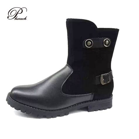 2015 fashion ankle boots shoes motorcycle boots flat