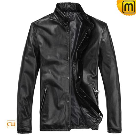 S Slim Fit Motorcycle Leather Jacket Cw812208