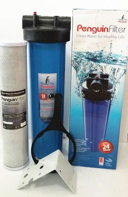 Penyaring Air Kran Filter Praktis jual filter air water filter penguin 20 inci karuniajy