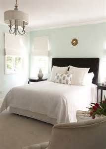 light color bedroom walls brown tufted headboard transitional bedroom