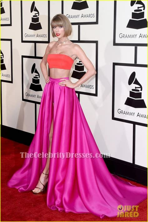 taylor swift 2016 grammys pink dress taylor swift grammys 2016 two piece dress red carpet gown