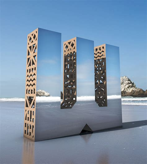design is all around us we made giant mirror letters in san francisco to show that