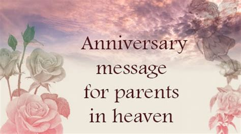 Wedding Anniversary Quotes In Heaven by Anniversary Messages For Parents In Heaven