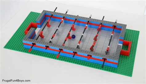 How To Make A Table Football Out Of Paper - how to build a lego foosball
