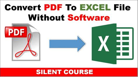 convert pdf to word hack how to convert pdf to excel without software within 5