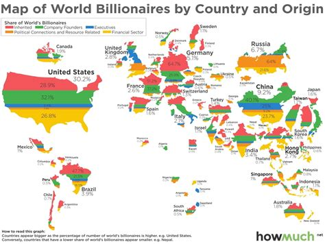 map of the country of map of world billionaires by country and origin the big